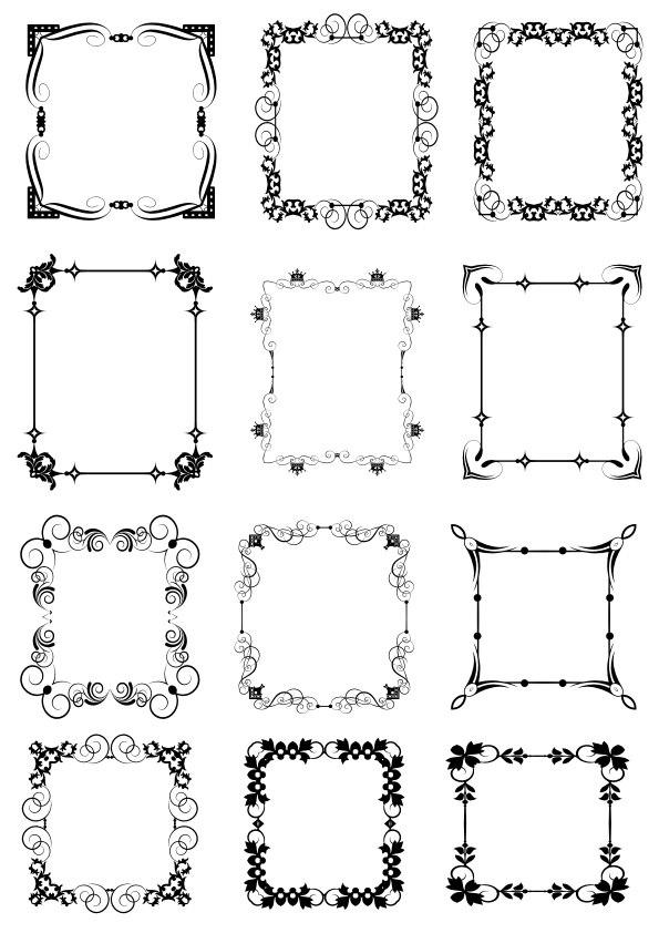 Decorative Frame Set Free Vector