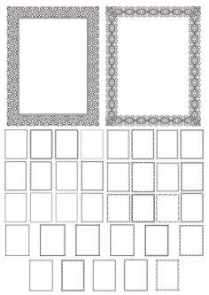 Elegant Frames Set Free Vector