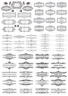 Vintage Elegant Decor Elements Free Vector