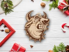 Laser Cut Bull New Year Christmas Toy DXF File