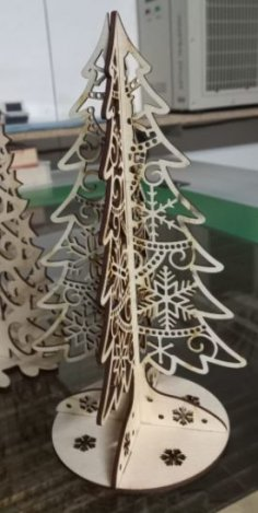 Laser Cut Christmas Tree Template Plywood 6mm Free Vector