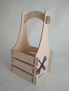 Laser Cut Wood Tools Box Free Vector