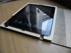 Laser Cut Wooden iPad Case Free Vector
