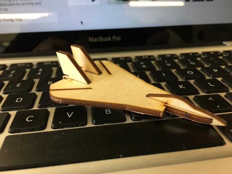 Laser Cut Mini F-14 Tomcat DXF File