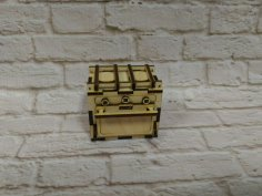 Laser Cut Dollhouse Kitchen Oven Stove Miniature Dollhouse Furniture 3mm Free Vector
