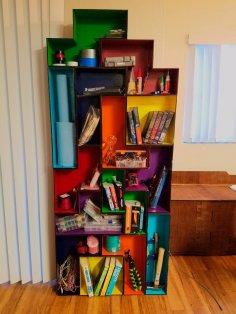Laser Cut Tetris Modular Book Shelf DXF File