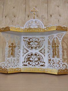Laser Cut Iconostasis Shelf For Icons 3mm Free Vector