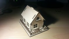 Wooden House 3mm Plywood Laser Cut Template PDF File