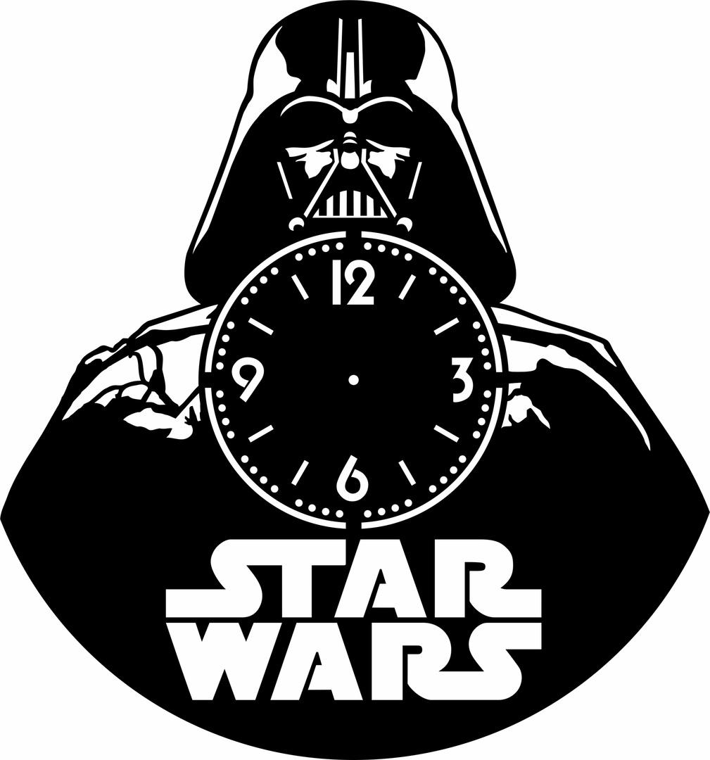 Laser Cut Star Wars Vinyl Clock Template Free Vector