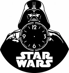 Laser Cut Star Wars Vinyl Clock Template Free Vector
