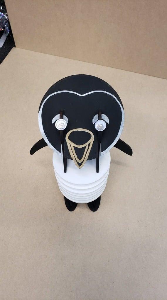 Laser Cut Penguin Coasters 3mm Free Vector