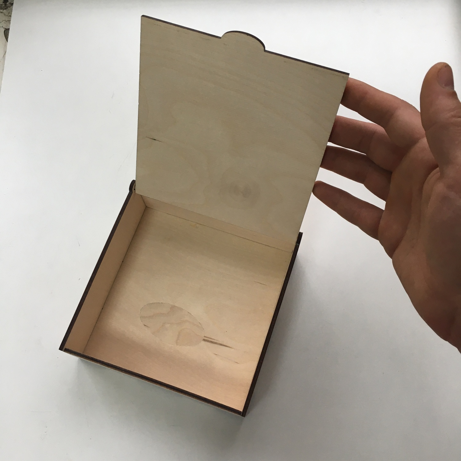 Laser Cut Wooden Engraved Box 15x15x5cm Free Vector