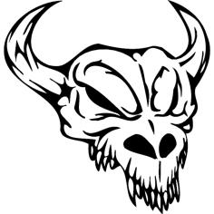 Skull 009 dxf File