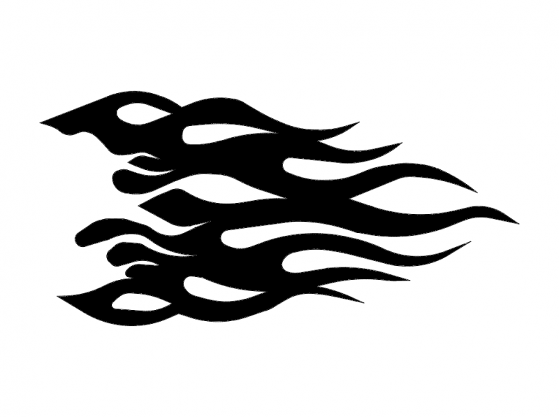 Flame 5 dxf File