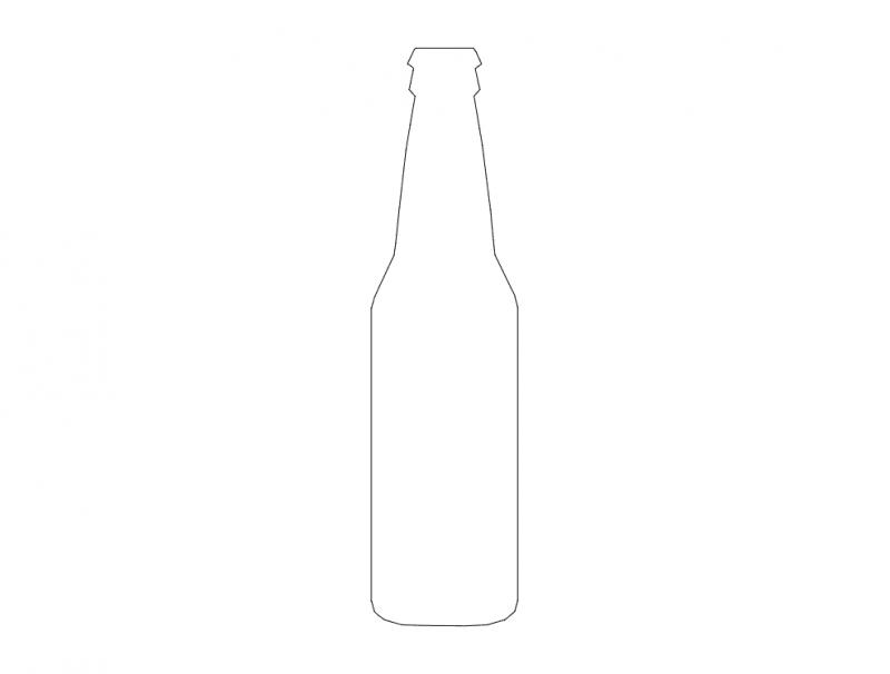 Silueta De Botella dxf File