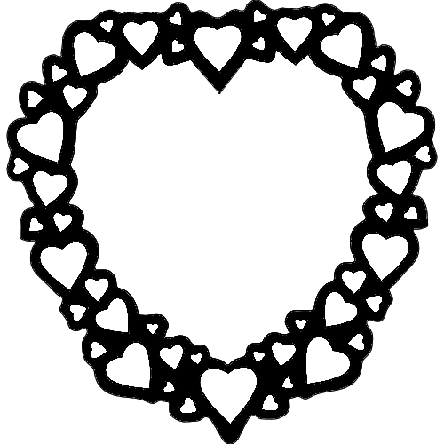 Heart Frame dxf File
