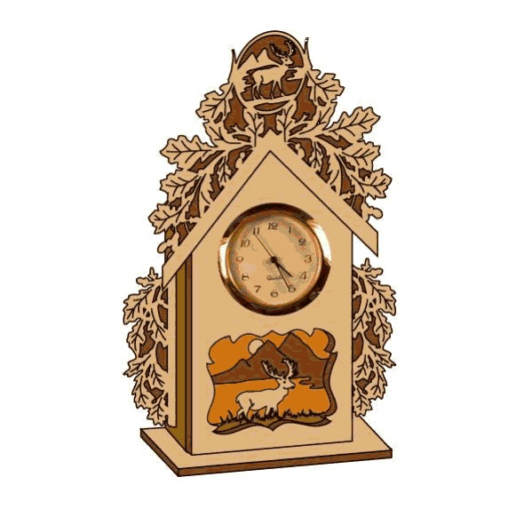 часы с оленем dxf File