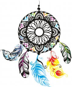 Dreamcatcher Color Free Vector