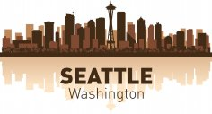 Seattle Skyline Free Vector