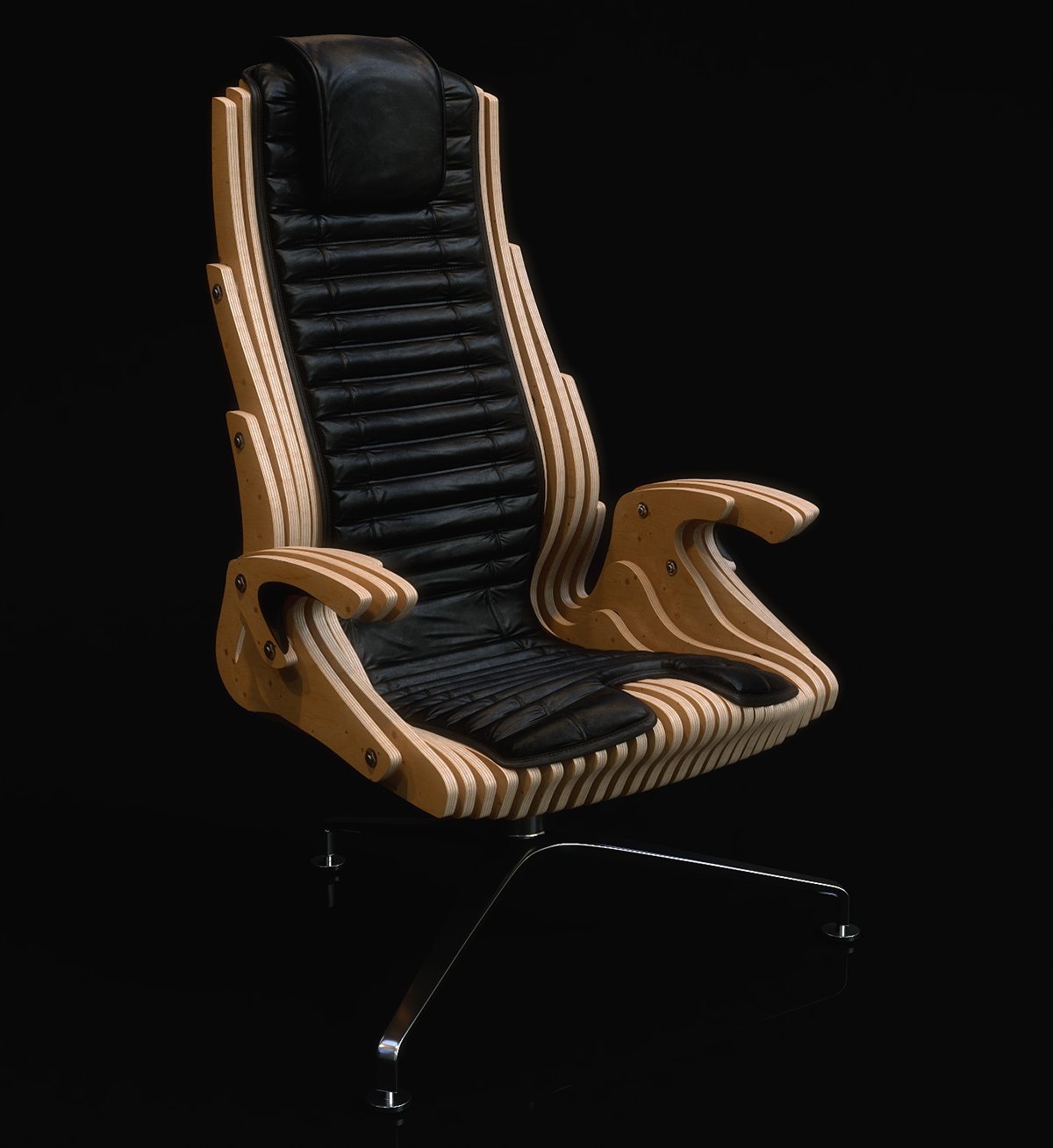 Parametric Office Chair DXF File
