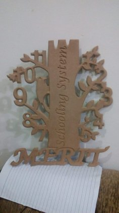 Clock Tree Design Laser Cut DXF File