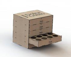 Caixa Capsula De Cafe DXF File