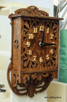 Scroll Saw Clock Pattern Free Vector
