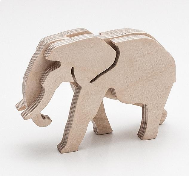 Laser Cutting Elephant PDF File