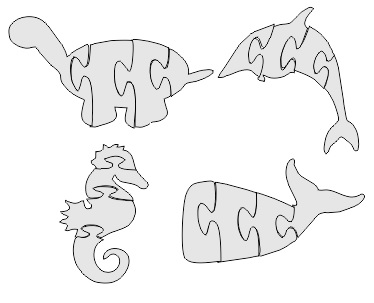 Seahorse Jigsaw Puzzle dxf