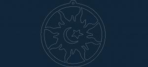 Sun Moon Star dxf file