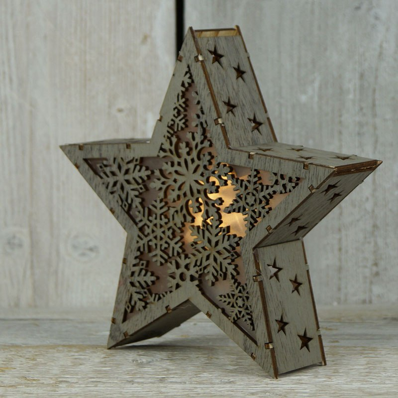 Star Light Lamp Laser Cut Free Vector