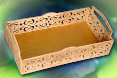 Tray Scroll Saw Pattern PDF File
