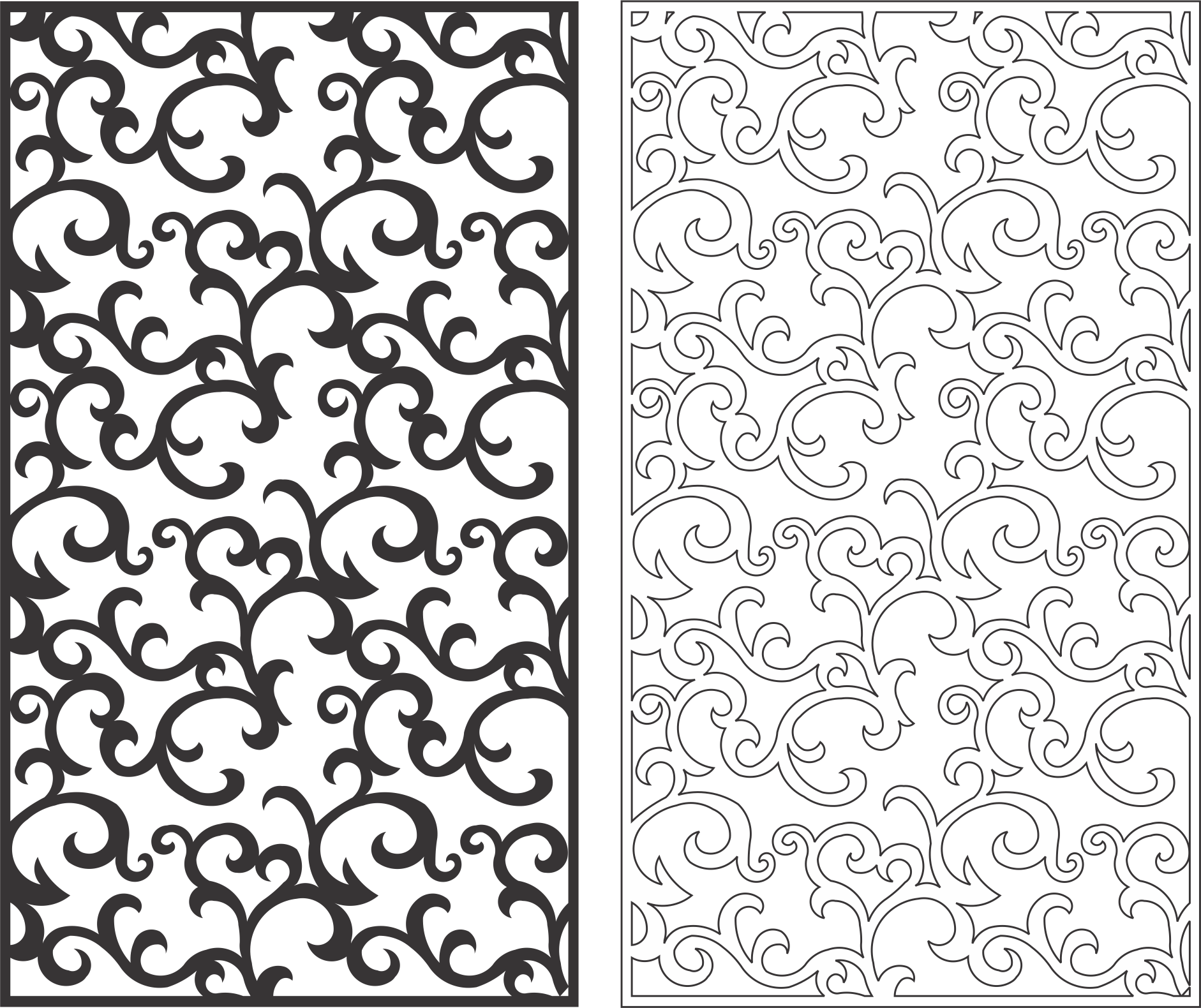 Seamless Screen Swirl Pattern Free Vector