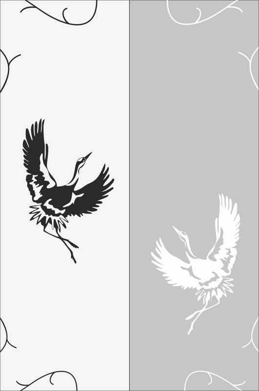 Flying Bird Sandblast Pattern Free Vector