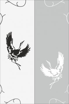 Flying Bird Sandblast Pattern