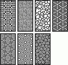 Screen Pattern Collection Free Vector