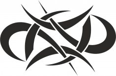 Abstract Tattoo Tribal Vector Design Free Vector