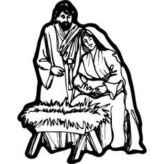 Nativity Scene dxf File