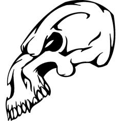Skull 017 dxf File