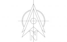 North Arrow Symbol dxf File