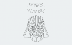 Darth Vader Star Wars dxf File