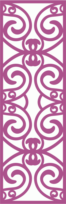 Laser Cut Vector Panel Seamless 164 CDR File
