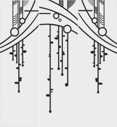 Abstract Art Sandblasting Pattern Vector Free Vector