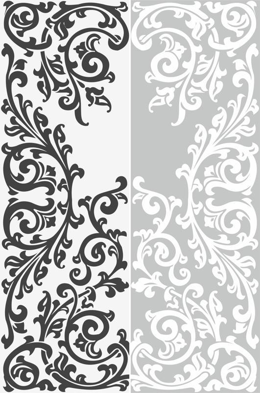 Abstract Floral Ornament Sandblast Pattern Free Vector