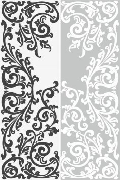 Abstract Floral Ornament Sandblast Pattern Free Vector