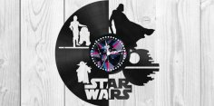 Star Wars Clock Plans Darth Vader Yoda  Free Vector