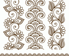 Henna Tattoo Mehndi Flower Template Vector Free Vector