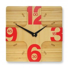 Clock CNC Puzzle Plan CDR File