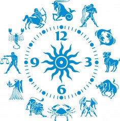 Zodiac sign clock CDR File