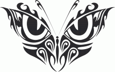 Tribal Butterfly Vector Art 33 DXF File